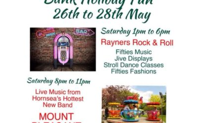 Bank Holiday Fun 26th to the 28th of May